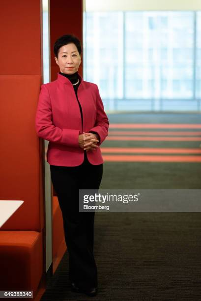 Sayuri Shirai professor at Keio University and visiting scholar at the Asian Development Bank Institute stands for a photograph following a Bloomberg...