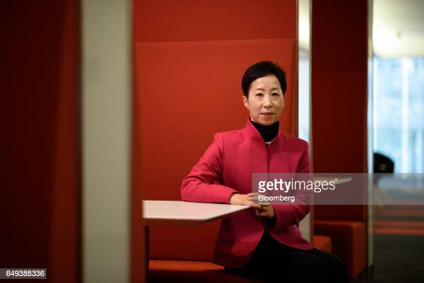 Sayuri Shirai professor of Keio University and visiting scholar at Asian Development Bank Institute sits for a photograph following a Bloomberg...
