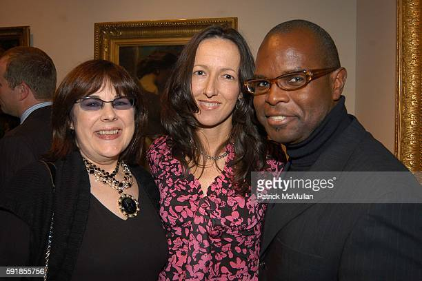 Saz Zachery Toyia Frenzel and Antonio Karks attend ELLE DECOR Presents 2005 ELLE DECOR International Design Awards at Christie's on October 24 2005...
