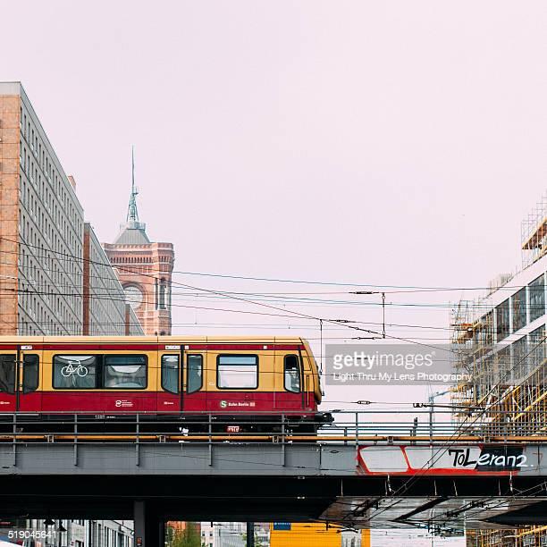S-Bahn crossing bridge in Berlin