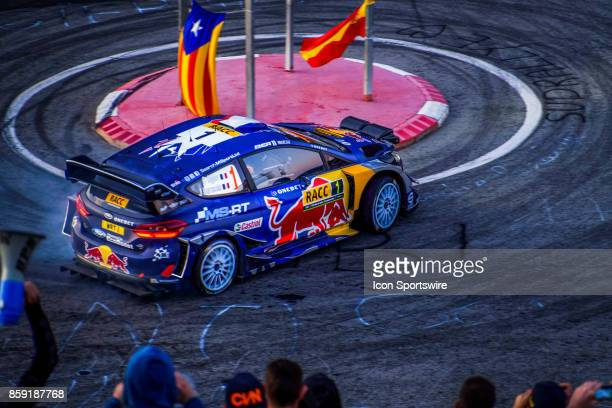 Sébastien Ogier and codriver Julien Ingrassia of MSport early morning run on the Riudecanyes Stage of the Rally de Espana round of the 2017 FIA World...