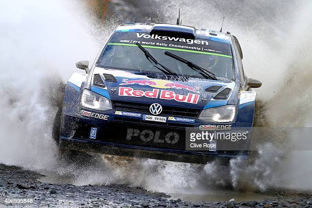 Sébastien Ogier and Julien Ingrassia of France drive the Volkswagen Motosport Polo R WRC during during the Sweet Lamb stage of the FIA World Rally...