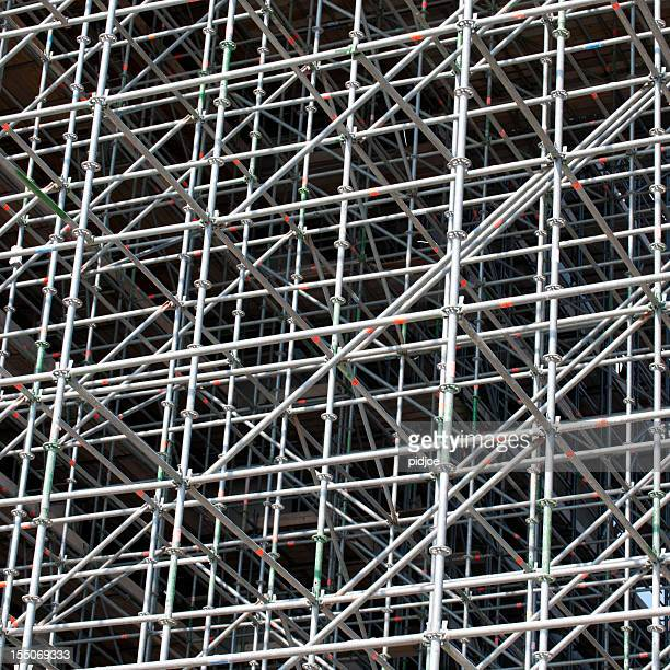 scaffolding in front of  office building