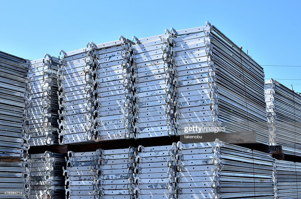 Superieur Scaffolding Materials Storage : Stock Photo
