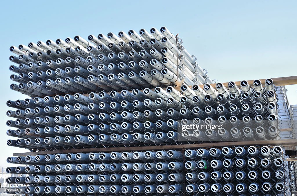 Scaffolding Materials Storage : Stock Photo