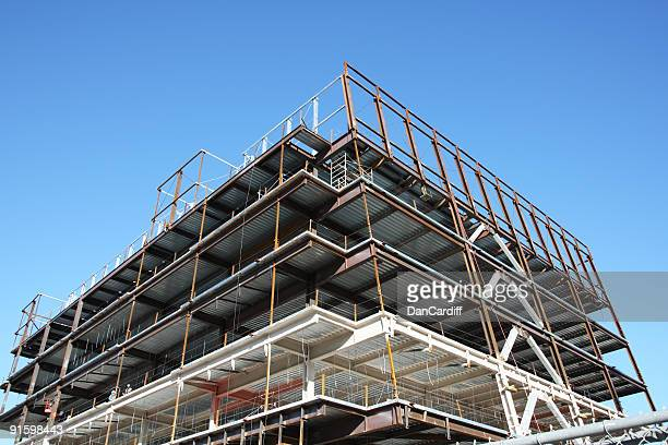 Scaffoldings in building under construction