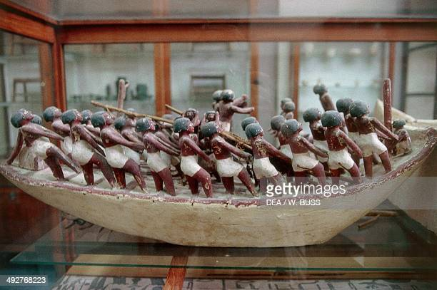 Scale model of a boat from the Tomb of Meketre Deir elBahari Egypt Egyptian civilisation Middle Kingdom XI Dynasty Cairo Egyptian Museum