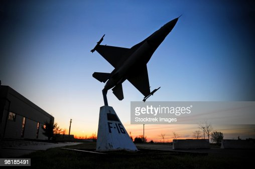 A scale model of an F-16 C Fighting Falcon. : Stock Photo