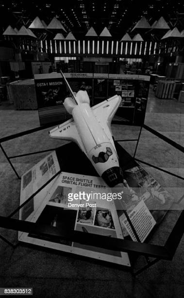 A scale model of the space shuttle leads the way to the * ACSMSASP* Annual convention at currigan hall *American Congress of Survey and Mapping...