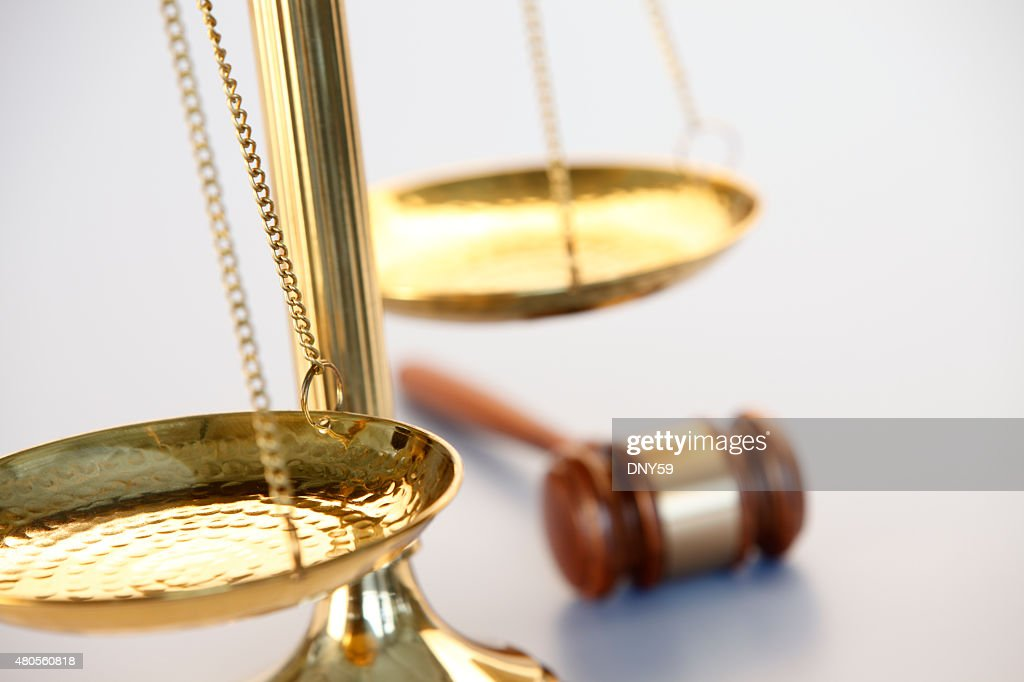 Scales Of Justice And A Gavel : Stock Photo