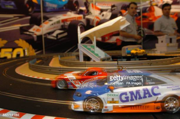 Scalextric celebrate 50 years of making their car racing toys during Toy Fair at London's ExCel centre