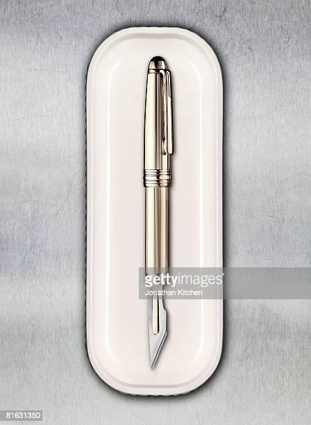 Scalpel Pen in a tray