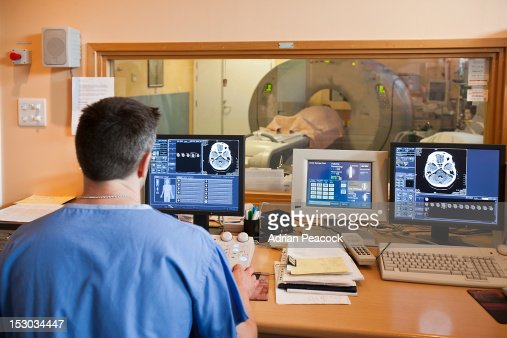 CT scan operator : Stock Photo