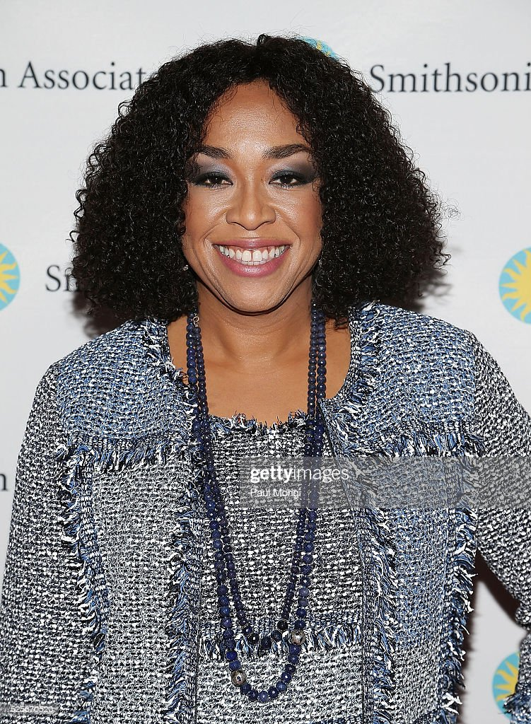 'Scandal' producer and writer Shonda Rhimes attends the Smithsonian Associates's 'Scandal-ous!' discussion with the cast and executive producers of ABC's 'Scandal' at the University of District of Columbia Theater of the Arts on April 28, 2016 in Washington, DC.