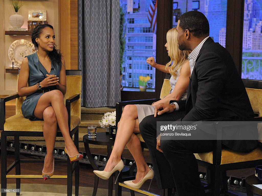 "MICHAEL -5/6/13 - ""Scandal"" star KERRY WASHINGTON speaks about the new film ""Peeples"" on 'LIVE with Kelly and Michael,' distributed by Disney-ABC Domestic Television. KERRY"