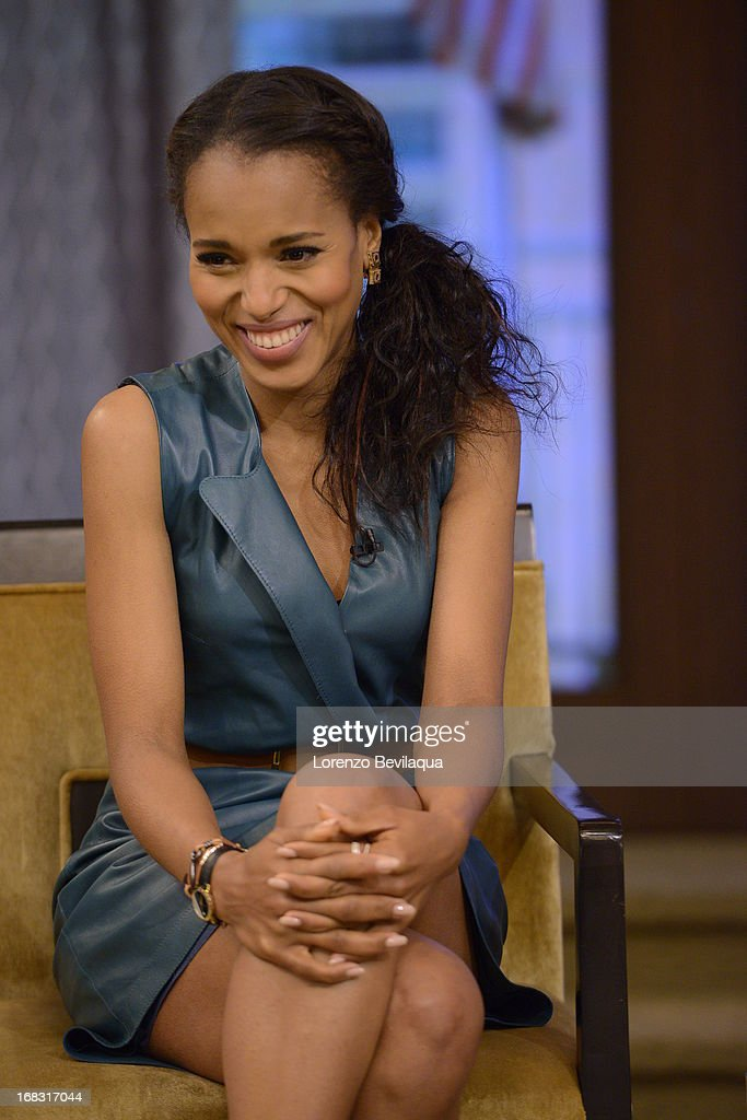 """MICHAEL -5/6/13 - """"Scandal"""" star KERRY WASHINGTON speaks about the new film """"Peeples"""" on 'LIVE with Kelly and Michael,' distributed by Disney-ABC Domestic Television. WASHINGTON"""