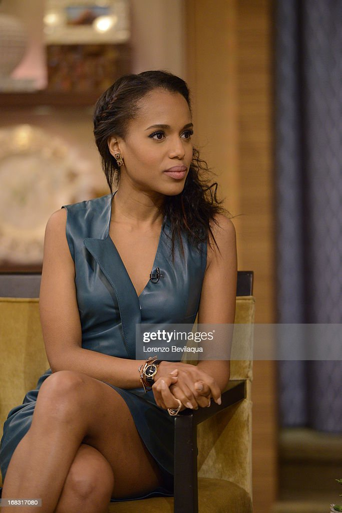 """MICHAEL -5/6/13 - """"Scandal"""" star KERRY WASHINGTON speaks about the new film """"Peeples"""" on 'LIVE with Kelly and Michael,' distributed by Disney-ABC Domestic Television. KERRY"""