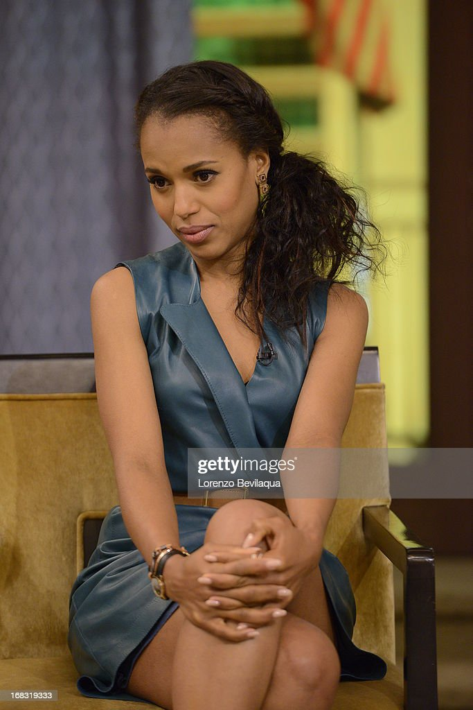 "MICHAEL -5/6/13 - ""Scandal"" star KERRY WASHINGTON speaks about the new film ""Peeples"" on 'LIVE with Kelly and Michael,' distributed by Disney-ABC Domestic Television. WASHINGTON"