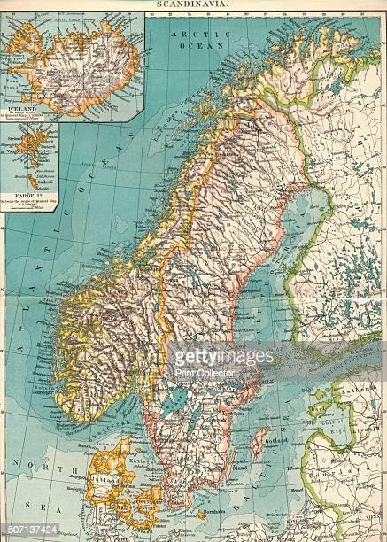 Scandinavia' c1906 From The World's History Volume VI Edited by Dr H F Helmolt [William Heinemann London 1907] Artist Unknown