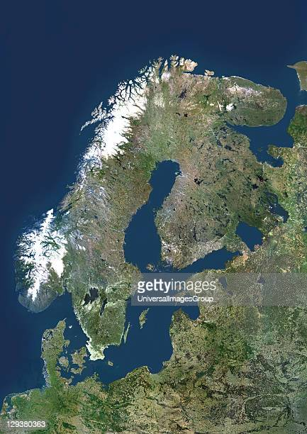 Scandinavia true colour satellite image The region comprises the countries of Norway Sweden and Denmark However the term is often used to include...