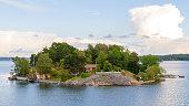 Scandinavian Island with home
