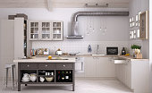 Scandinavian kitchen, interior design