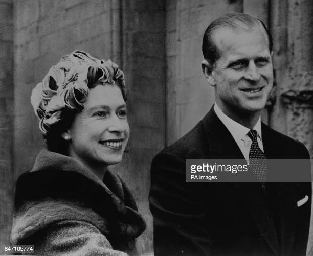 *Scanned lowres from print* Queen Elizabeth II and the Duke of Edinburgh on arrival at Rochester Cathedral to attend the Maundy Service It was the...