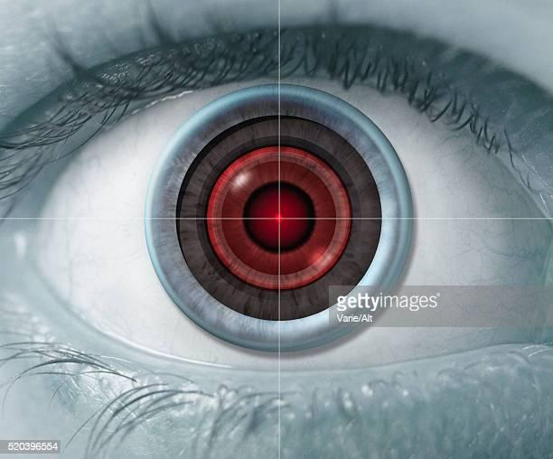 Scanning Human Iris in Eyeball