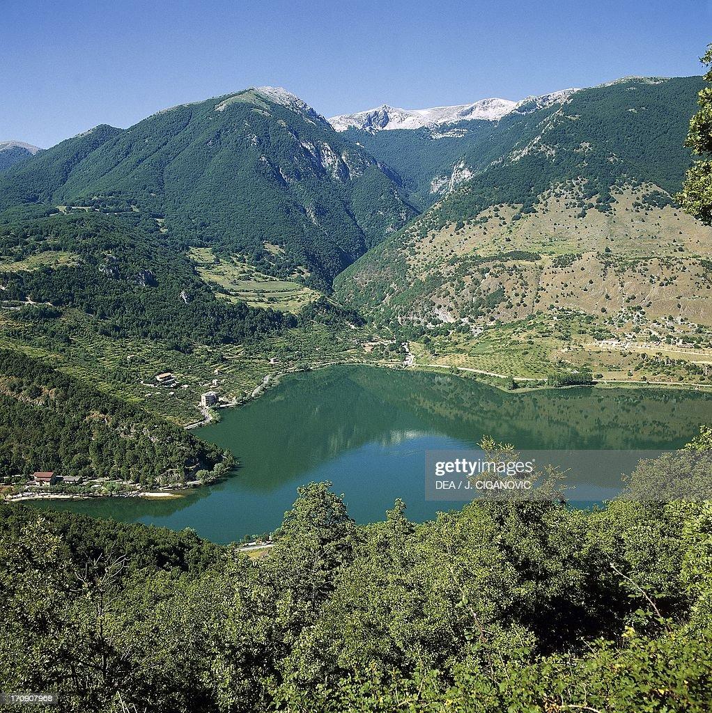 Scanno Lake Province of L'Aquila Abruzzo Lazio and Molise National Park Abruzzo Italy