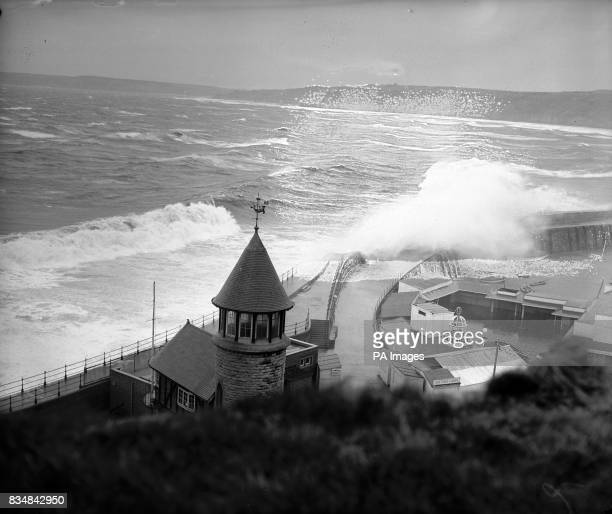 Scarborough caught the full force of a south easterly gale The whole of Marine Drive and the harbour walls got battered by mountainous seas