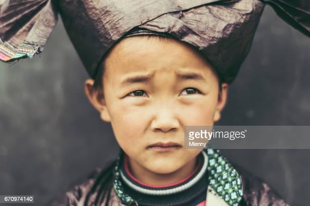 Peur et triste à la recherche de Portrait de personnes réelles garçon chinois chinois