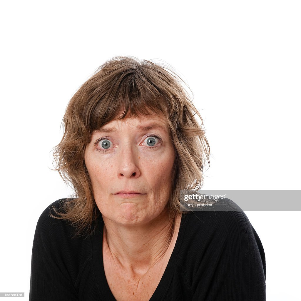 Scared to have your picture taken? : Stock Photo