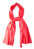 scarf summer. multicolored scarf. Scarf top view.Red scarf .