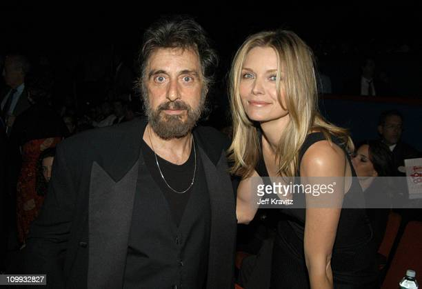 Scarface cast members Al Pacino and Michelle Pfeiffer reunite at the 20th Anniversary premiere event celebrating the theatrical rerelease held at the...