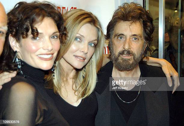 Scarface cast members Mary Elizabeth Mastrantonio Michelle Pfeiffer and Al Pacino reunite at the 20th Anniversary premiere event celebrating the...