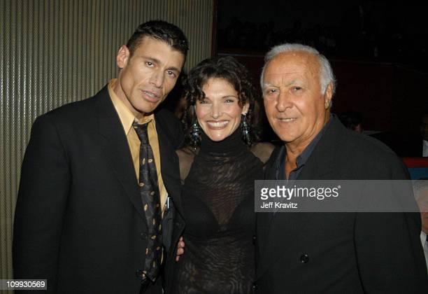 Scarface cast members Steven Bauer Mary Elizabeth Mastrantonio and Robert Loggia reunite at the 20th Anniversary premiere event celebrating the...