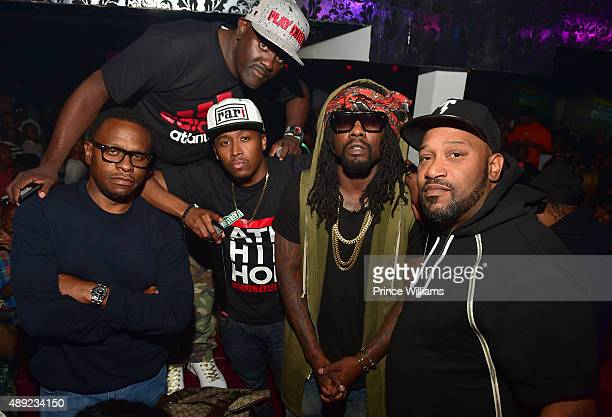 Scarface Ferrari Simmons Greg Street Wale and Bun B attend 2 Chainz Birthday Celebration at Compound on September 14 2015 in Atlanta Georgia