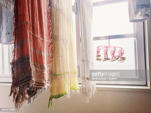 Scarfs Drying In House