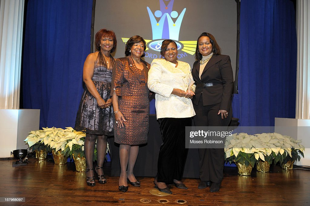 Scarlet Pressley Brown, Deborah Richardson, Alvetta Peterman Thomas and Director of Community Development for Ford Motor Company Pamela Alexander attend the 2012 Ford Freedom Usung Awards ceremony at Historic Academy of Medicine at Georgia Institute of Technology on December 7, 2012 in Atlanta, Georgia.