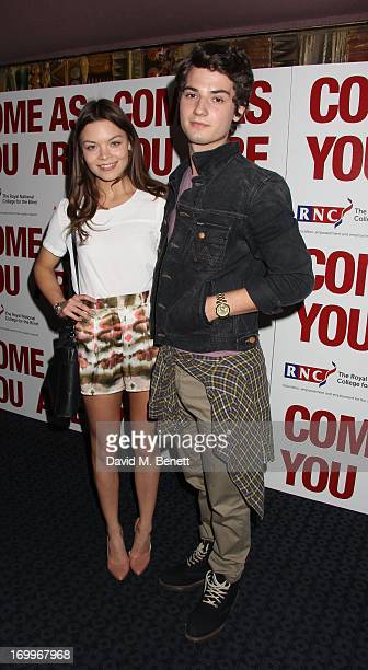 Scarlett Bryne and Jack Brett attend the UK Premiere of 'Come As You Are' at The Curzon Mayfair on June 5 2013 in London England