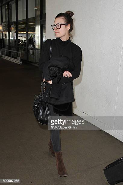 Scarlett Byrne is seen at LAX on December 11 2015 in Los Angeles California