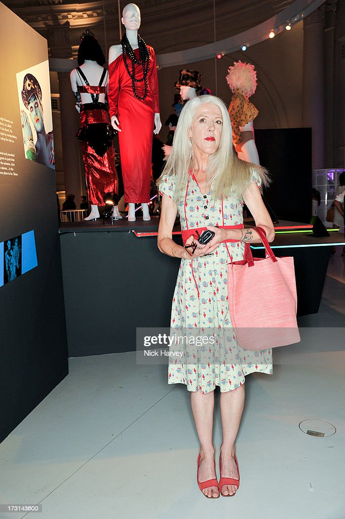 Scarlett Cannon attends the Club To Catwalk: London Fashion In The 1980's exhibition at Victoria & Albert Museum on July 8, 2013 in London, England.