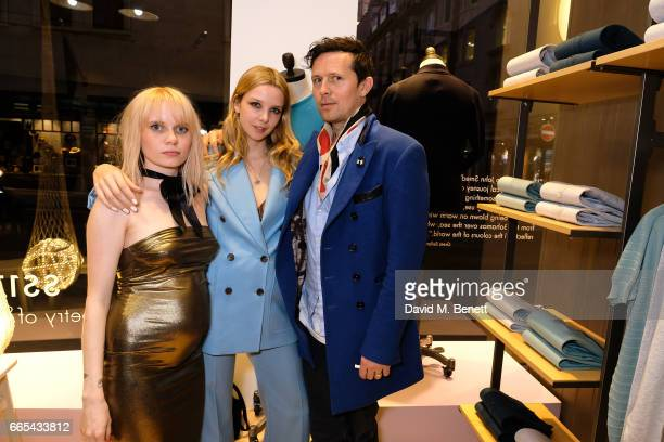 Scarlett Carlos Clarke Greta Bellamacina and Robert Montmogery attend the John Smedley x Greta Bellamacina evening of poetry in association with...