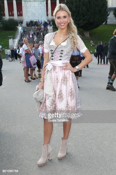 Scarlett Gartmann girlfriend of Marco Reus at the 'Madlwiesn' event during the Oktoberfest at Theresienwiese on September 21 2017 in Munich Germany