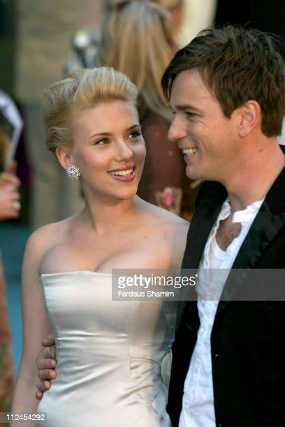 Scarlett Johansson and Ewan McGregor during 'The Island' London Premiere at Odeon Leicester Square in London Great Britain