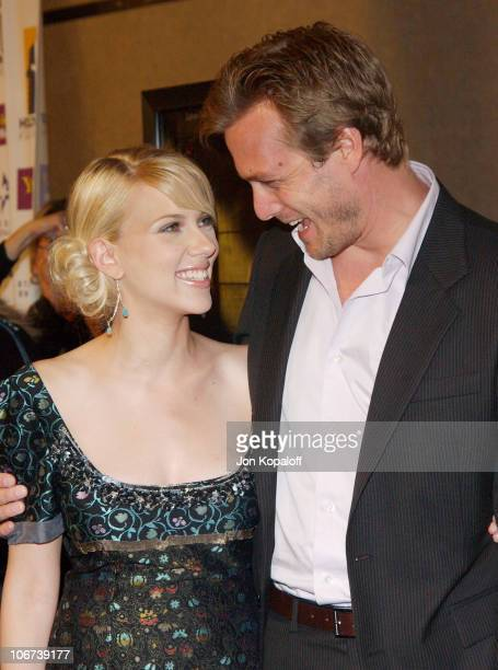 Scarlett Johansson and Gabriel Macht during ' A Love Song For Bobby Long ' Premiere at The Hollywood Film Festival's Closing Night Gala at The Arc...
