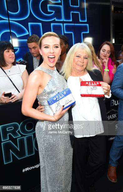 Scarlett Johansson and Geraldine Dodd attend New York Premiere of Sony's ROUGH NIGHT presented by SVEDKA Vodka at AMC Lincoln Square Theater on June...