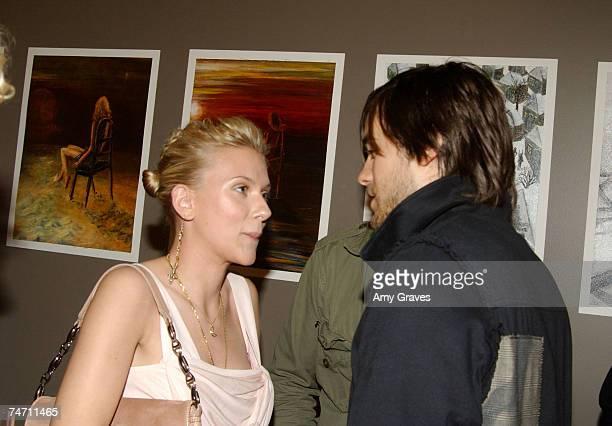 Scarlett Johansson and Jared Leto at the SoicherMarin Gallery in Hawthorne California