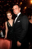 NEW YORK JUNE 13 Scarlett Johansson and Liev Schreiber in the audience at the 64th Annual Tony Awards at Radio City Music Hall on June 13 2010 in New...