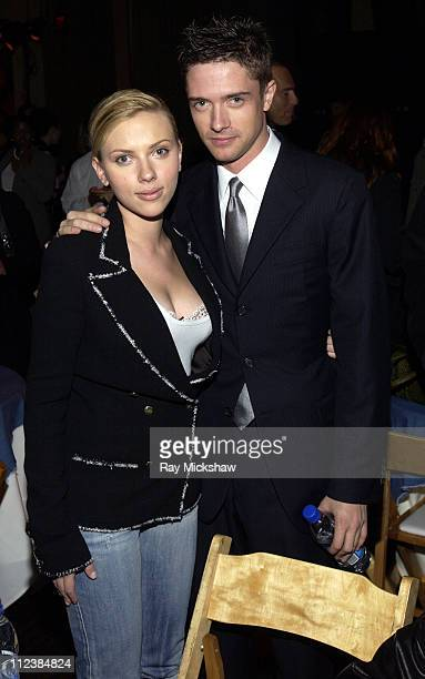 Scarlett Johansson and Topher Grace during 'In Good Company' Los Angeles Premiere Sponsored by Teen Vogue and DKNY Jeans After Party at The Highlands...